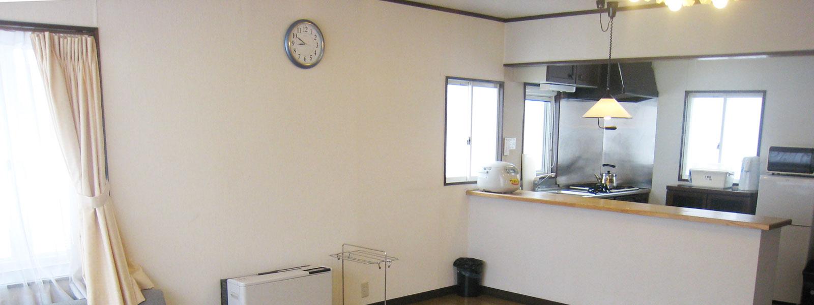 各棟に自炊のできるキッチン完備